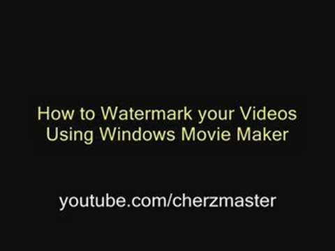 0 How to Watermark/Add Logo using Windows Movie Maker