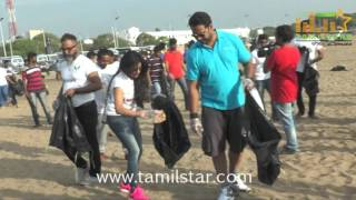 Sakshi Agarwal At Beach Clean Up