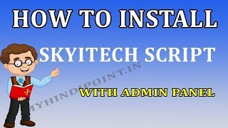 How to make skyitech website fully install skytech script step by step