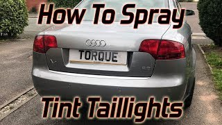 How To Spray Tint Your Taillights