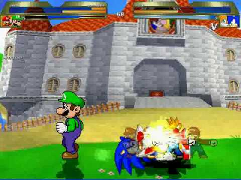 Sonic et Luigi Mugen Mario Luigi vs Sonic