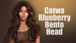 Catwa Blueberry Bento Mesh Head in Second Life