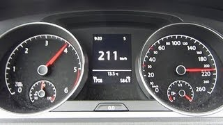 VW Golf 7 1.6 TDI 0-100 km/h in 9,5s + Topspeed