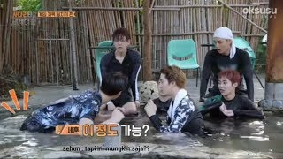 [INDO SUB] EXO TRAVEL THE WORLD ON EXO'S LADDER || Playing water 2