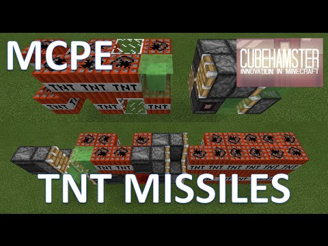 MCPE: Slime Block TNT Missile - Pocket Tomahawk + Bunkerbuster