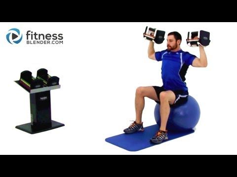 Upper Body Dumbbell Workout - Weight Training with Dumbbells Image 1
