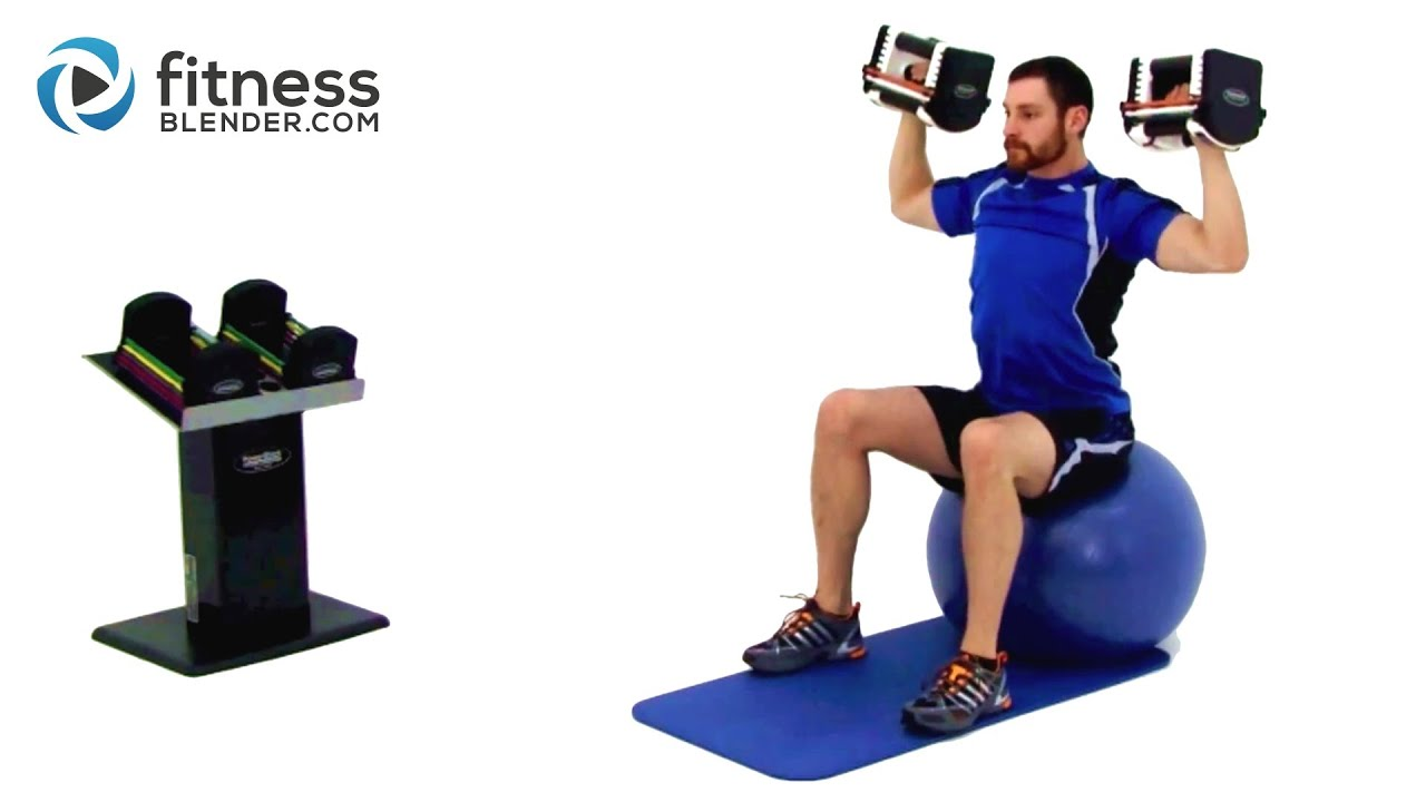 upper body dumbbell workout   weight training with