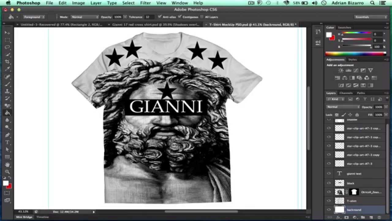 How To Design Clothes On Photoshop How To Design A T shirt in