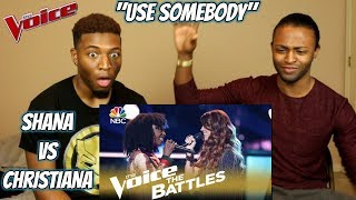 "Download Lagu The Voice 2018 Battle - Shana Halligan vs. Christiana Danielle: ""Use Somebody"" (REACTION) Gratis STAFABAND"