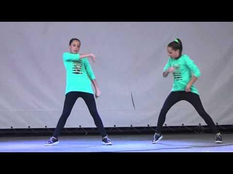 """Танец """"Хватит учить - давай танцевать!"""" (hip-hop) - Соня и Ксюша Макиенко. Битва талантов-2015"""