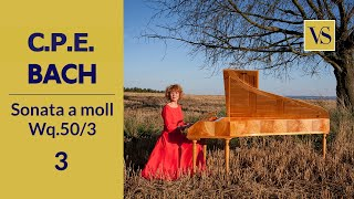FORTEPIANO / Classical music / CPE Bach Sonata Wq. 50/3 A moll - Allegro moderato ma innocentemente