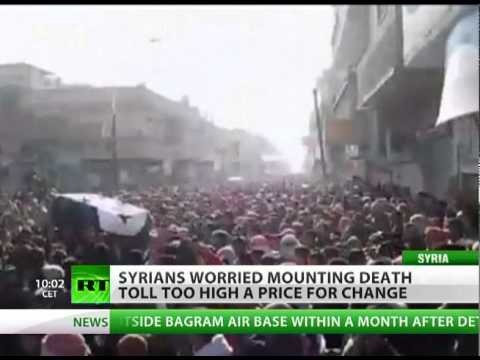 Streams of blood, mounting deaths choke Syria