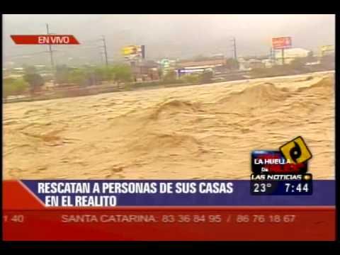 Rio Santa Catarina Huracan ALEX 01/07/10 LAS NOTICIAS TELEVISA MONTERREY 9/12