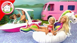 Barbie Film Camper Dolphin Magic Boat unboxing - Familie Hauser