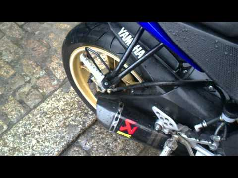 yamaha yzf r125 akrapovic and bmc air filter