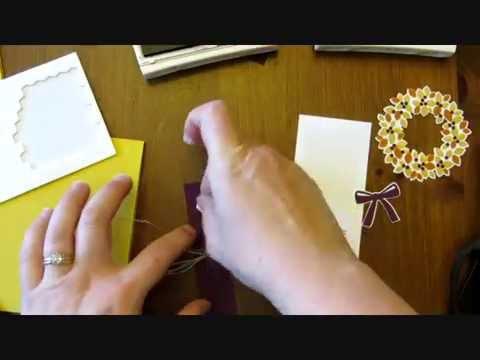 Stampin up autumn wondrous wreath card youtube
