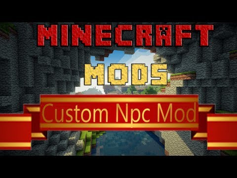 Minecraft Mods - Custom Npc Mod - Español - Review - 1.5.2