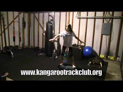 High Jump Training -  Balancing board exercise (coaching youth athlete)