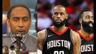 """Stephen A. Smith Defends LeBron James Team Up Harden:""""They'll Beat Warriors' Ass!"""""""
