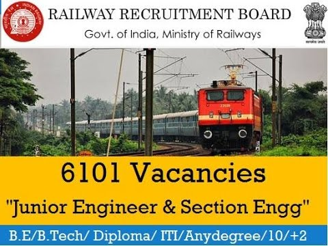 how to apply for Indian Railway Recruitment of Junior Engineer and Section Engineer Sep 2014