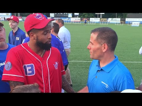 Giants' Odell Beckham Jr., Brad Wing Enjoy Dutchess Stadium, Thrill Local Fans