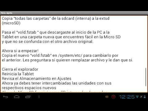 Tablet atvio cambiar memoria interna por externa.