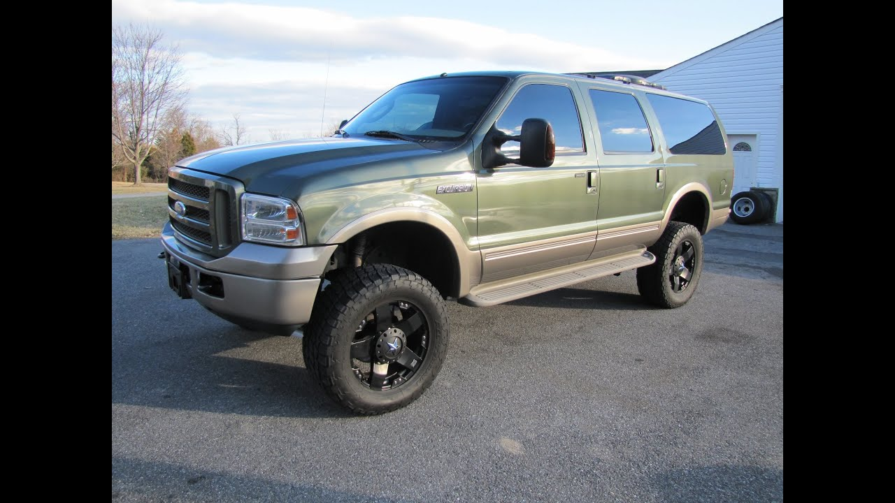 for sale 2005 ford excursion eddie bauer diesel low miles. Black Bedroom Furniture Sets. Home Design Ideas