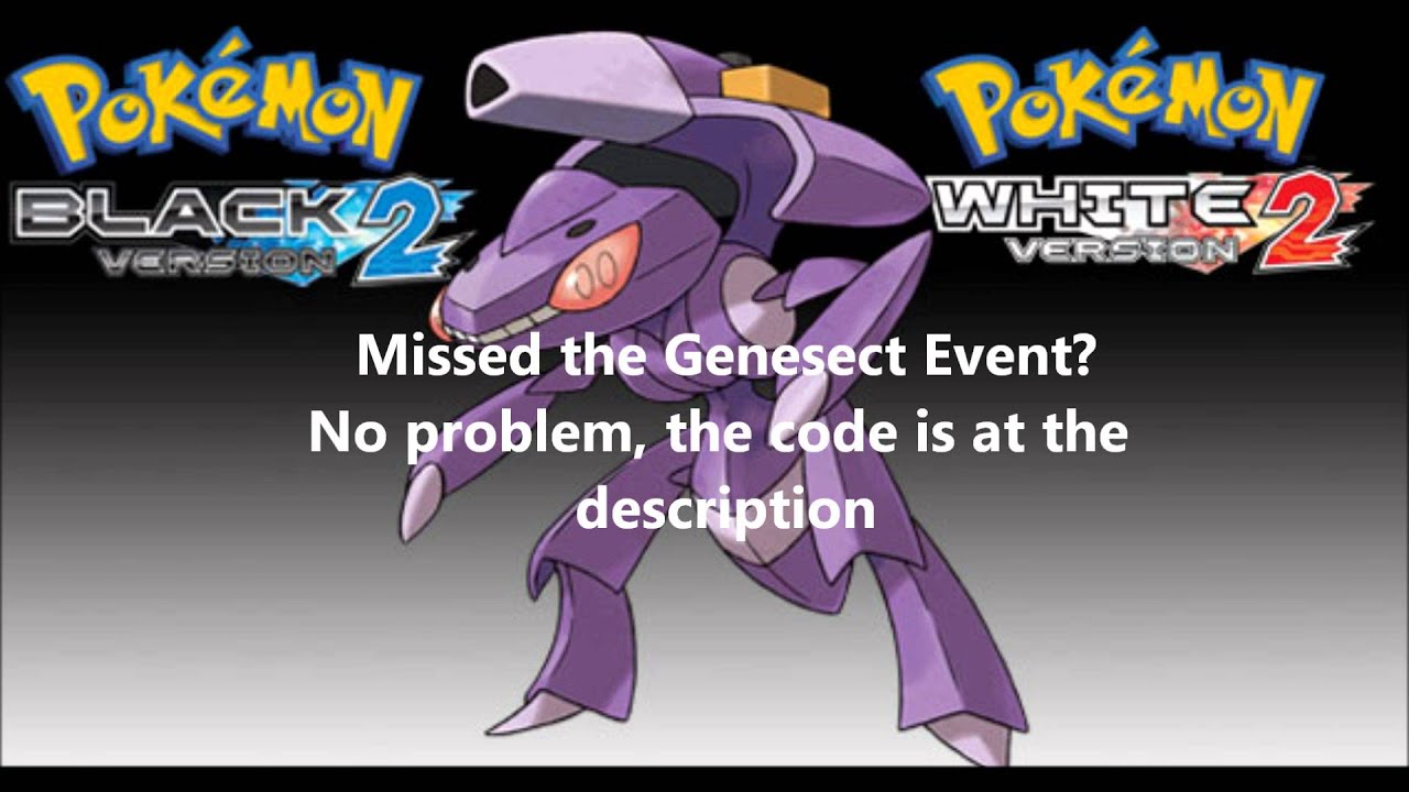 Pokemon Black 2 and White 2 Genesect Event AR Code Part 3