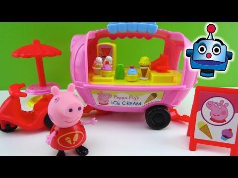 Peppa Pig Furgoneta De Los Helados Peppa Pig's Theme Park Ice Cream Van - Juguetes De Peppa Pig video