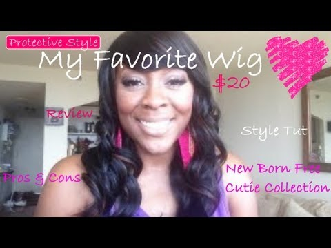 Grow Your Hair Under Wigs!! My Favorite Cheap Wig (REVIEW)~ ($20)   Plus Style Tutorial!