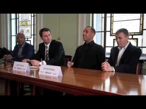 JAMES DeGALE SIGNS FOR MATCHROOM, FIGHTS IBF FINAL ELIMIN. v GONZALEZ ON MAY 31  - FULL PRESS CONF.