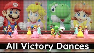 Super Mario Party All Characters Victory Dances