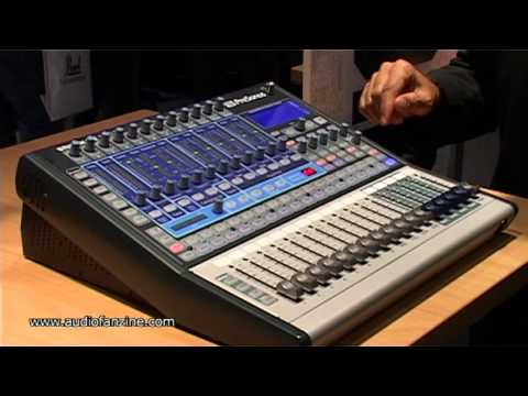 PRESONUS STUDIOLIVE 16.0.2 video demo [Musikmesse 2011]