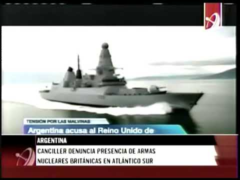 Denuncia Argentina  presencia de armas nucleares en el Atlántico Sur