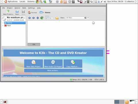 Linux Ubuntu - Gravador de CD Brasero e K3B