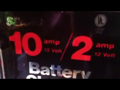 Sears Old Car Battery Charger Demo
