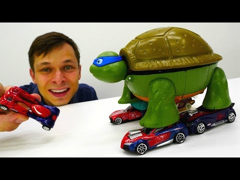 Видео игрушки #ЧерепашкиНиндзя 🐢 Фёдор прокачал БАЗУ Супер #Ниндзя Игры для мальчиков #промашинки