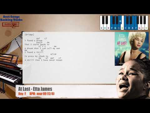 At Last - Etta James Piano Backing Track with chords and lyrics