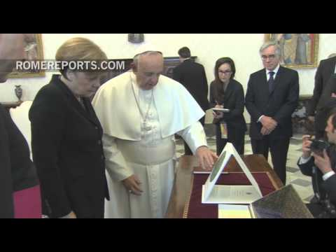 Pope Francis meets with German Chancellor Angela Merkel