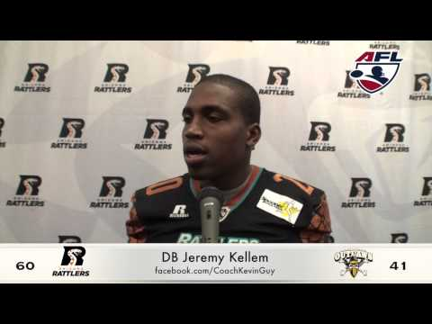 5-16-2015; Post Game Press Arizona Rattlers Vs. L.V. Outlaws, Coleman, Kellem, Windsor