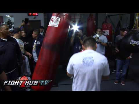 Mayweather vs Maidana Maidana media workout highlights