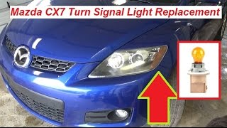 Mazda CX7 CX 7 Front Turn Signal Light Bulb Replacement