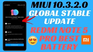 Redmi Note 5 Pro MIUI 10.3.2.0 GLOBAL STABLE UPDATE | UPDATE MANUALLY | BATTERY FIXED | NEW FEATURES