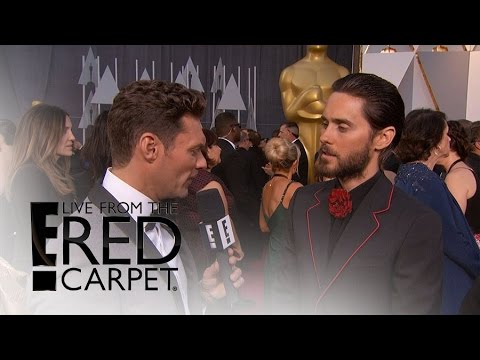 Jared Leto's Strange Way of Calming Oscars Nerves | Live from the Red Carpet | E! News