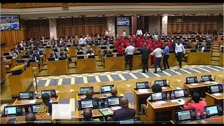 South Africa: Brawl breaks out in parliament