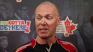 2012 Tim Hortons Brier Draw 4 Media Scrum