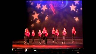 Calli Cox and her 2012 Competitive Tap Dance Team win Platinum and 1st place