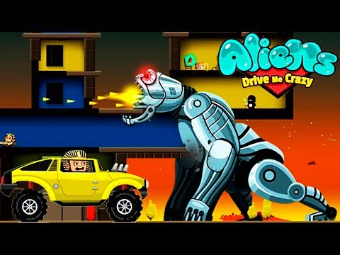МЕГА БОСС МАШИНКИ aliens drive me crazy #17 тачки VIDEO KIDS cars игра как мультик про машинки