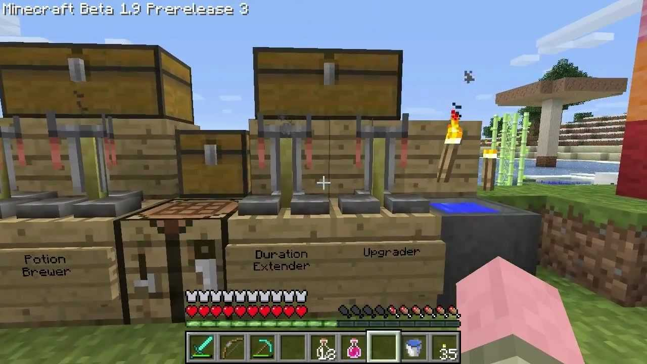 Minecraft 1 9 prerelease 3 potions amp brewing youtube