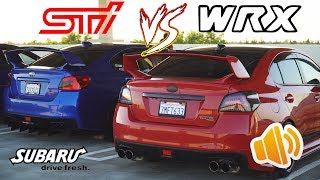 WRX VS STI Exhaust Comparison (ELH VS UEL) [4k]